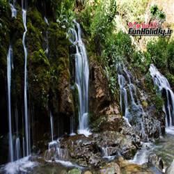 آبشار هفت چشمه جاده چالوس