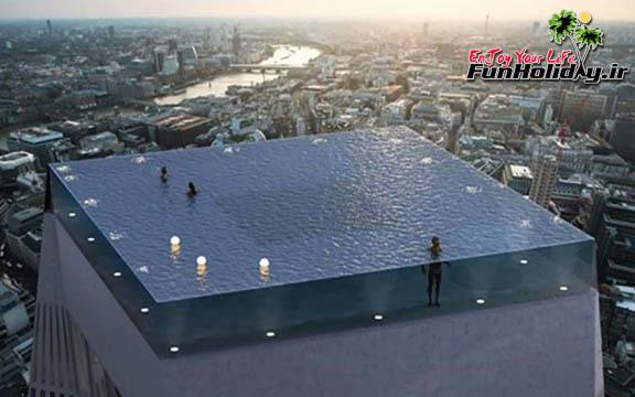 اولین استخر بی انتها با چشم انداز ۳۶۰ درجه ای در لندن ساخته خواهد شد
