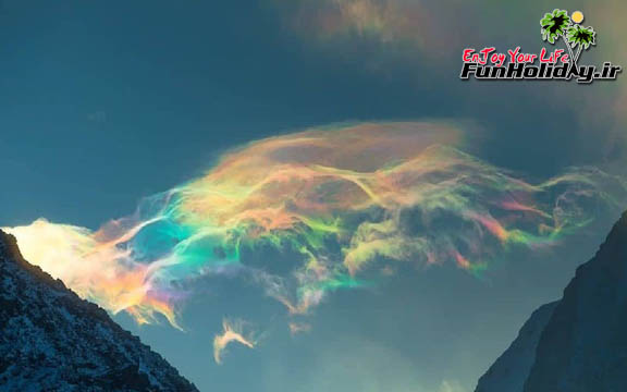 ابرهای این سرزمین عجیب، هزار رنگ هستند