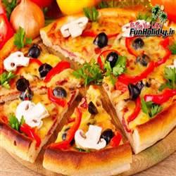 فست فود پیتزا و مرغ بریان شب