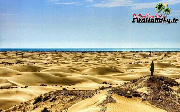 پاکیزهترین ساحل کشور در روستای درک زرآباد