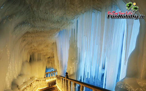 غار یخی نینگو در چین، غاری که یخ هایش هیچ وقت آب نمی شوند!